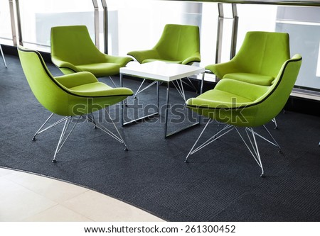 Soft green Office Chair - stock photo