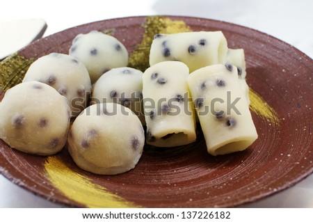 Soft Japanese Sweets, based on Mochi. - stock photo