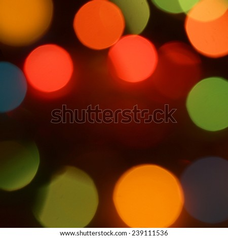 Soft lights background, Beautiful big colorful abstract christmas circular lights background - stock photo