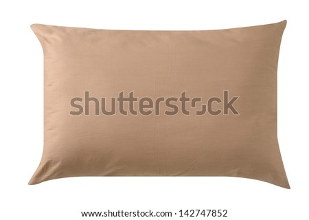 Soft pillow. Isolated - stock photo