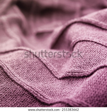Soft pink wool. Textile industry and fabric backgrounds.