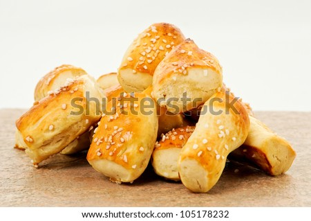 Soft Pretzels Nuggets - stock photo