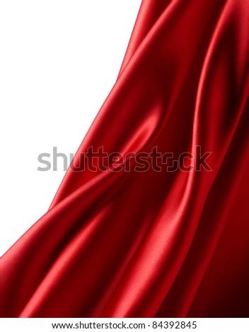 Soft red satin - stock photo