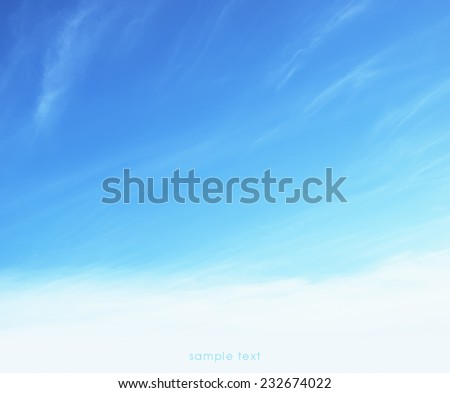 soft sky background  - stock photo