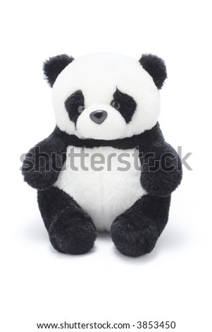 Soft Toy Panda - stock photo