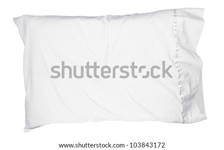 Soft white pillow isolated - stock photo