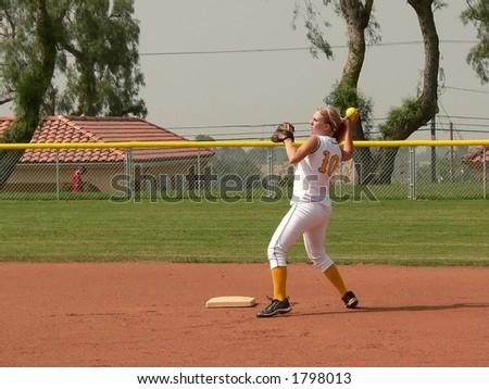 Softball Player - stock photo