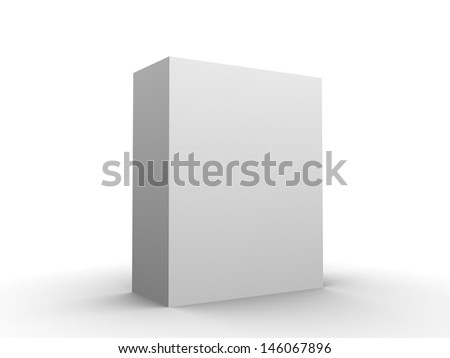 Software box blank add your software design in blank space - stock photo