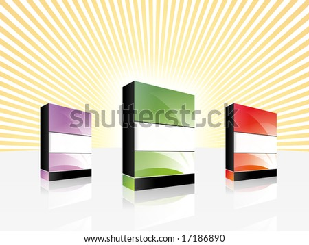 Software boxes. - stock photo