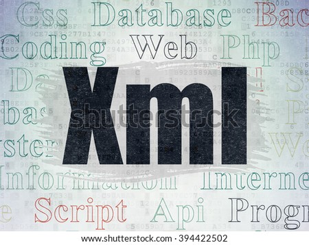 Software concept: Xml on Digital Paper background - stock photo