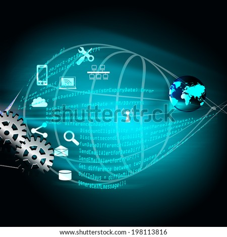 Software Development and Coding phase - stock photo