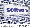 Software message background. Computer program poster design - stock photo