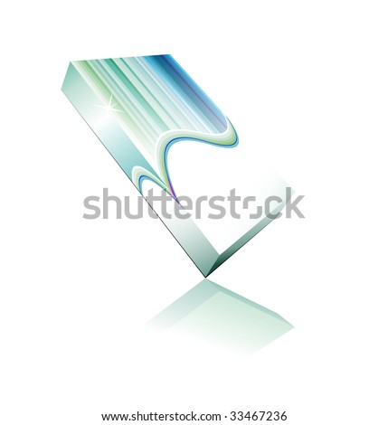 Software or Generic Product 3D Boxes Icon set with reflections and shadows - stock photo