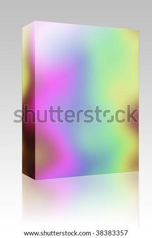 Software package box Abstract rainbow pattern, with psychedelic random colors - stock photo