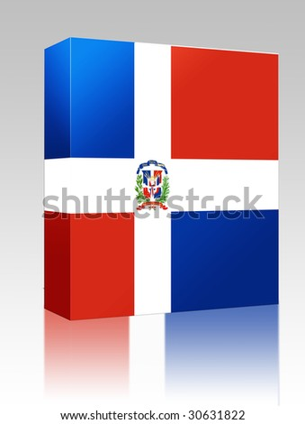 Software package box Flag of Dominican Republic, national country symbol illustration