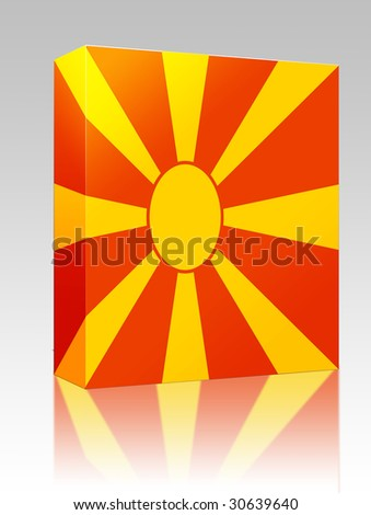 Software package box Flag of Macedonia, national country symbol illustration