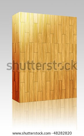 Software package box Wooden parquet natural finish seamless tiling texture background