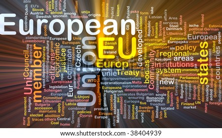 Software package box Word cloud concept illustration of EU European Union