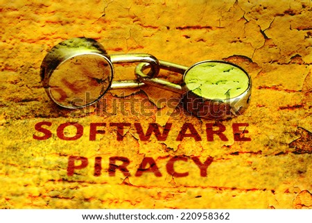 Software piracy grunge concept - stock photo