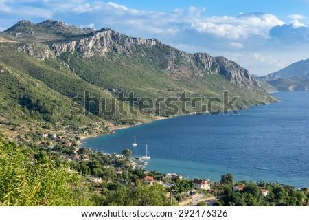 Sogut on the Brozburun Peninsula in Turkey - stock photo