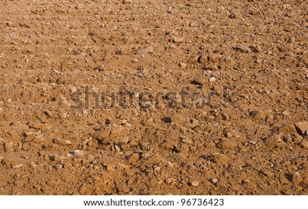 soil background. Surface of cultivation land, agriculture.