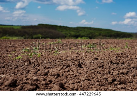 Soil cultivated dirt earth ground brown stock photo - Nature s care organic garden soil ...
