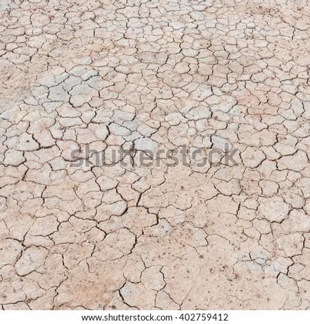 soil drought cracked texture - stock photo
