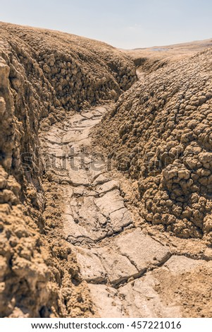 Soil erosion background, drought season - stock photo