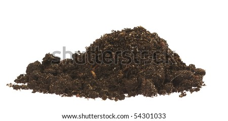 soil,Isolated on white with clipping paths. - stock photo