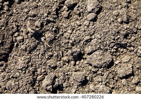 Soil texture, as background - stock photo