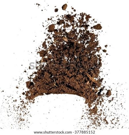 Soil up, close up - stock photo