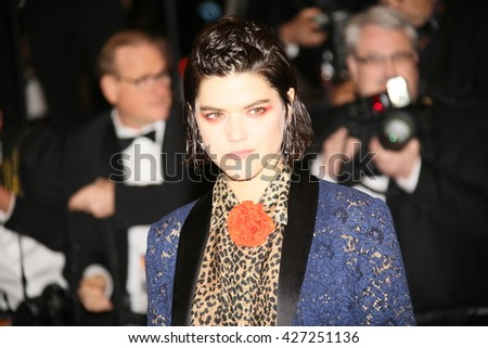 Soko attends the 'It's Only The End Of The World (Juste La Fin Du Monde)' Premiere during the 69th annual Cannes Film Festival at the Palais on May 19, 2016 in Cannes, France.  - stock photo