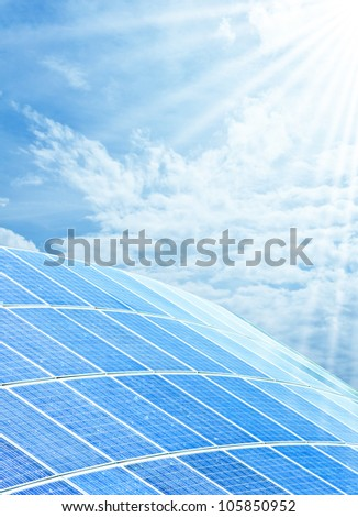 Solar cell for energy - stock photo