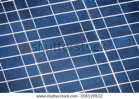 Solar cell panel for background. - stock photo
