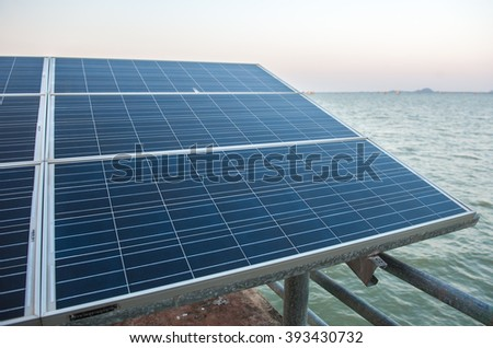 Solar cells, clean energy from natural, environmentally friendly.  - stock photo