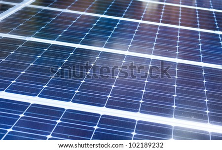 Solar cells close up - stock photo