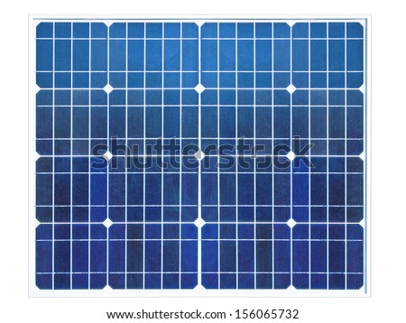 solar cells isolated on white - stock photo