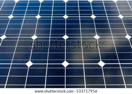 Solar cells panels for clean energy.
