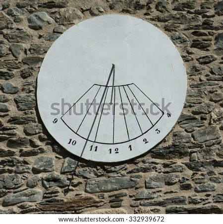 Solar Clock  - stock photo