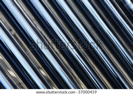 solar collector energy plant outside - stock photo