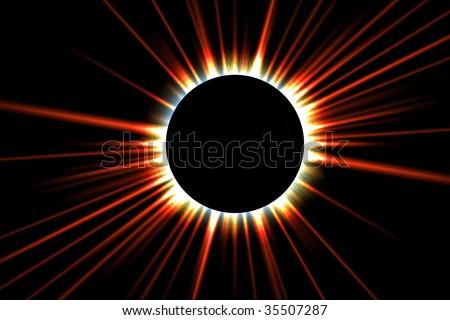 solar eclipse - stock photo