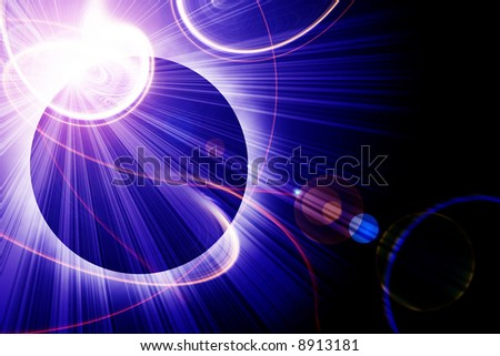 Solar eclipse - stock photo