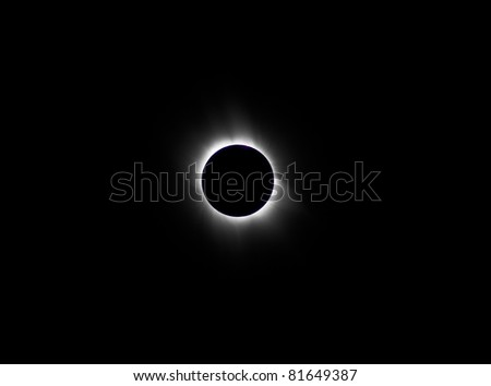 Solar eclipse 2006 in Astrakhan, Russia - stock photo