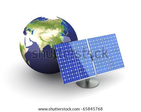 Solar Energy - Asia - stock photo