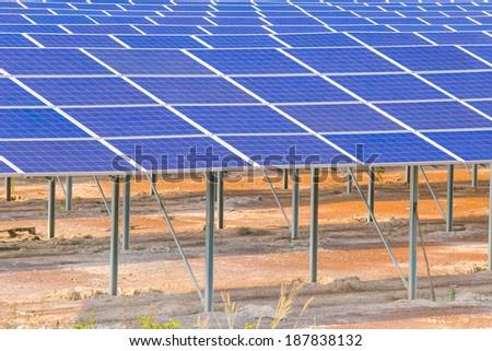 Solar energy, clean energy alternatives.  - stock photo
