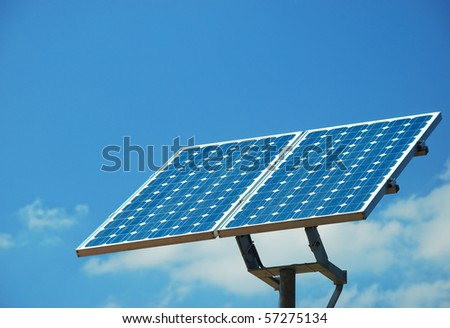Solar Energy Collector on sky - stock photo