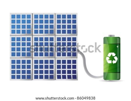 solar energy concept illustration design - stock photo