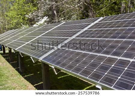 Solar Energy Panel Array - stock photo