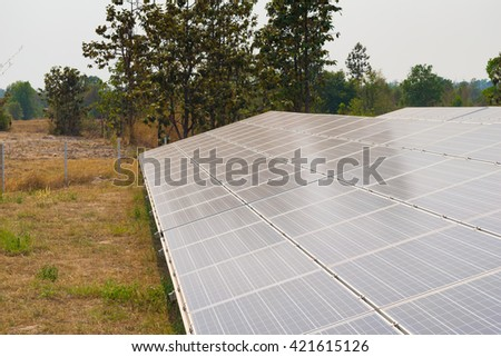 Solar energy panels, Photovoltaic for generate green energy - stock photo