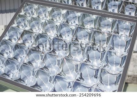 Solar energy plates - stock photo